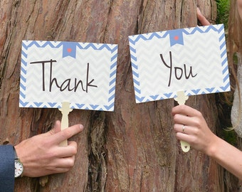 Wedding Paddles Thank You   Wedding Photo Booth Props   Thank You Wedding Sign