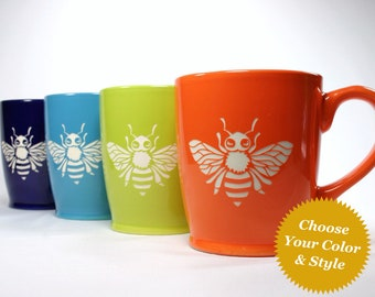 Honey Bee Mug - Choose Your Cup Color