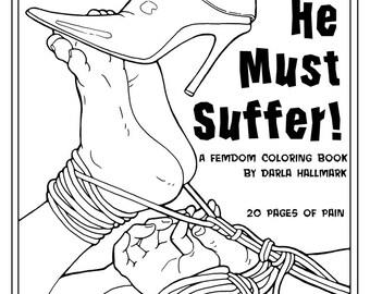 FemDom Coloring book.  20 drawings.