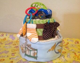 Boy Doon Buggy & Alphabet Diaper Cake