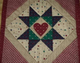 quilted hot pad / trivet