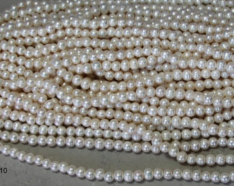9-10mm #407 ringed potato large hole freshwater pearls  app 43 pearls