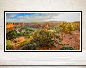 Canyon De Chelly, Panoramic, Arizona Wall Art, American Southwest Navajo Wall Art,Navajoland, Southwest Wall Decor,Canyon, National Monument