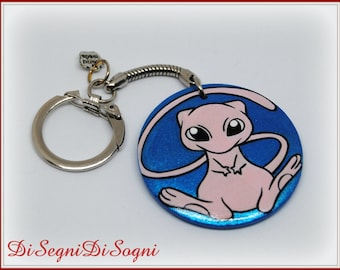 Key ring Pokemon MEW painted