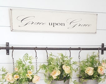 Grace upon Grace wood sign
