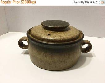 Sale Vintage Pottery Bean Pot Covered Casserole Pot Lidded Casserole Dish Covered Bean Pot Handled Casserole