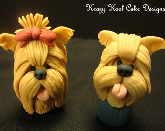 Yorkie Cake Toppers