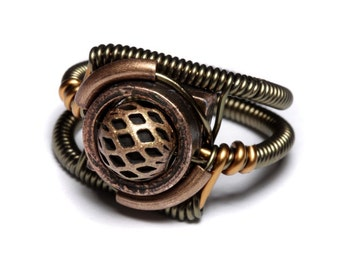 Steampunk Jewelry - Ring - Copper