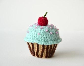 Cherry Cupcake Crochet Pattern, Cupcake Amigurumi Pattern, Amigurumi Cupcake Crochet Pattern, Crochet Cupcake Amigurumi, Kawaii Cupcake