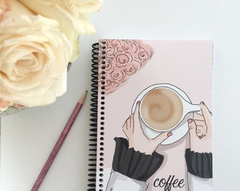 Journals -  Coffee First   - Gifts - Gratitude Journal - -Gift Ideas - Notebooks - Gifts for Women