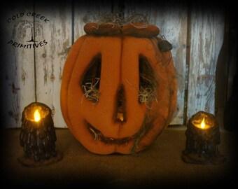 Primitive Jack O Lantern with Tealight