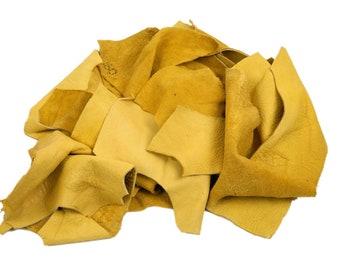 1 pound of Elk Leather Scraps Remnants Pieces (421-LB-CRSM)