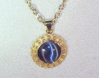 Cat's Eye Cabochon Necklace - Choice of Colors