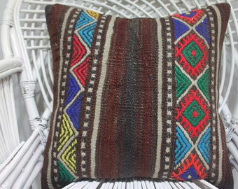 kilm pillow pillow cover throw pillow covers Throw Pillow 20x20 Anatolian Kilim Pillow Throw Pillow Bed Pillow Ethnic Pillow 20x20 2098