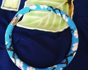 Beaded necklace (Japanese beads) handmade