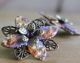 Romantic Flower Gift, Stud Flower Earrings, Lilac Flower Earrings, Mom Gift, Girlfriend Gift, Romantic Gift, Valentines Gift