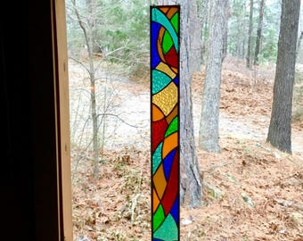 Magnificent stained glass panel glass art gift suncatcher decorative art glass stained glass window