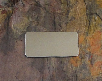 """5 Deburred 20G Nickel Silver 1/2"""" inch X 1"""" RECTANGLE Stamping Blanks"""