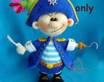 Knitting pattern - Pirate amigurumi Halloween doll