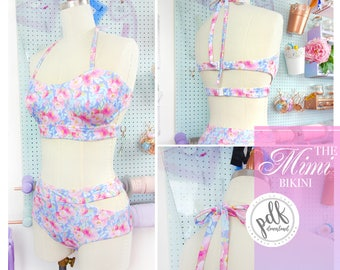 DIGITAL Bikini Sewing Pattern - The Mimi Bikini - Evie la Luve