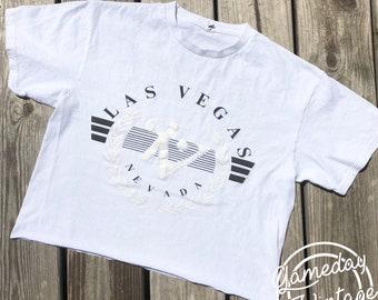 Vintage Las Vegas Crop Tee