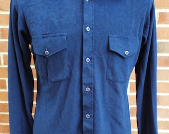 Vintage Long Sleeve Button Down Shirt by Van Heusen Super Suede