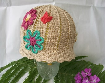 Girls Crochet Hat Womens Hat Summer Hats for Kids Baby Girl Hat Sunhat Women Crochet Cloche Hat Crochet Panama Hat