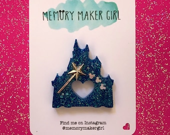 Cinderella's Castle Inspired Brooch - Disney Fantasy Pin