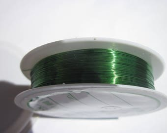 1 meter to 0,30 green colored brass wire - (4 c)