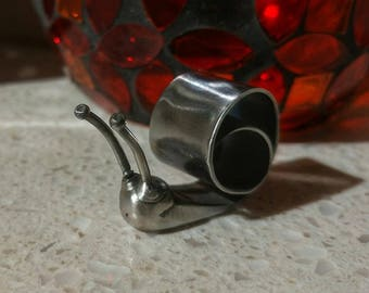 Snail - Butter Knife snail handmade - bent, welded, and polished