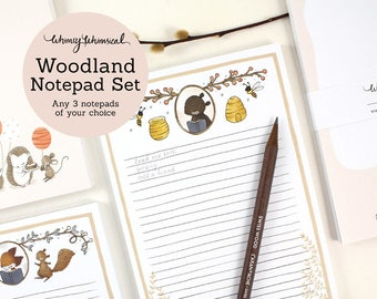 Whimsical Woodland Notepad Set