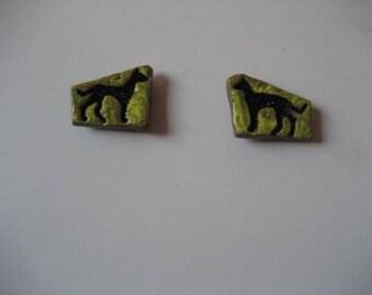 GREYHOUND, polymer, Fridge Magnets, Kitchen, Decor, Pair of Fridge Magnets,