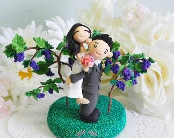 Custom Cake Topper- Vineyard wedding