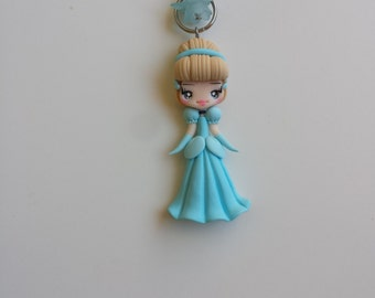 Necklace cinderella in fimo, polymer clay