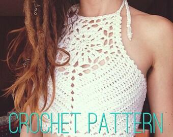 Crochet Pattern - Zinnia Crochet Crop Top