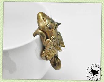 Dragothe - Bronze Dragon tea bag clip