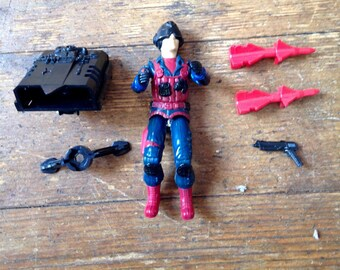 1984 Scrap Iron (v1), Series Three GI Joe, Cobra Action Figure.  Loose.  Hasbro Inc