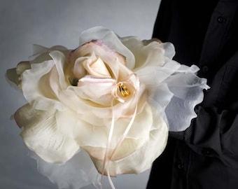 Rose Romance Blush Ivory Wedding Ring Bearer Pillow - 75150