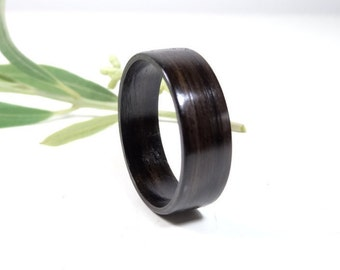 Wooden Engagement Ring from Ebony  // Bentwood Ring //  wooden ring for men // Ebony ring // wood ring // wedding band // Engagement band