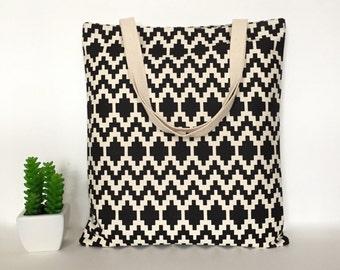 Geometric Canvas Tote Bag, Canvas Tote Bag, Minimalist Canvas Tote Bag, School Tote Bag, Tote bag for Teachers, Casual Tote bags, Canvas Bag