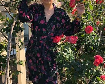 Vintage 80s flower dress