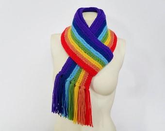 Knit / Rainbow Scarf (Caron)