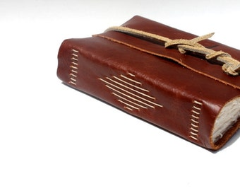 Leather Blank Book or Leather Journal - Handmade by Wee Bindery