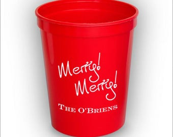 50 Holiday Stadium Cups - Personalized Party Cups - 2800_c