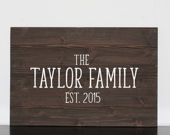 Rustic Family Name Sign, Wood Last Name Sign, Last Name Wall Sign, Last Name Wall Decor, Wood Signs Last Name, Farmhouse Family name Signs