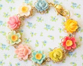 Flower Girl Bracelet, Bracelet for girls, girls bracelet, Flower bracelet for girls, girls personalized bracelet, wedding jewelry for girls