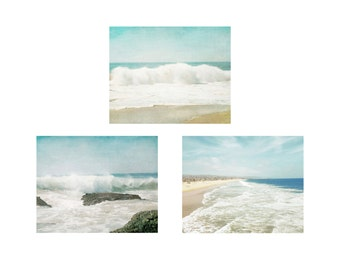 Beach Print Set, Photography Print Set, Beach Wall Decor, Coastal Decor, Bedroom Wall Art Prints, Surf Art, Ocean Pictures, Beach Photos