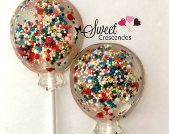 Birthday  Balloon Lollipops- Birthday Lollpops- Kids Party Favors