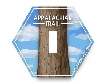 FREE Shipping - Appalachian Trail Sticker, Hiking Sticker, Great Gift for Hikers, Outdoor Sticker