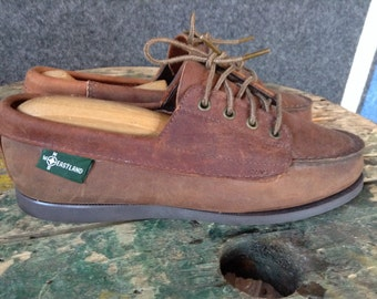 Vintage Eastland two tone boat shoe camp moccasins womens 8